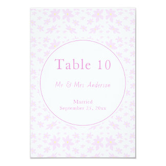 Delicate Pink Flowers Wedding Card
