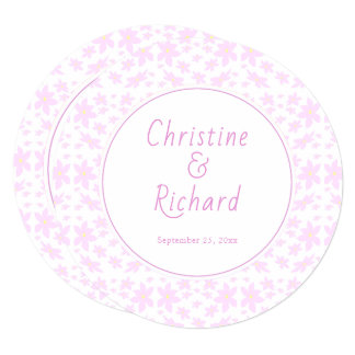 Delicate Pink Flowers Wedding Directions Card