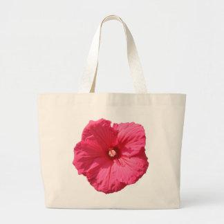 Delicate Pink Hollyhock Large Tote Bag