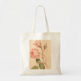 Delicate Pink Rose Tote Bag