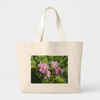 Delicate pink Spring wildflowers Large Tote Bag