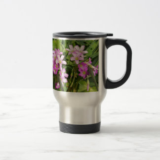 Delicate pink Spring wildflowers Travel Mug