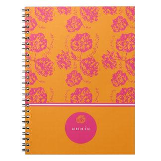 Delicate Pink, Vintage Floral Spiral Notebook