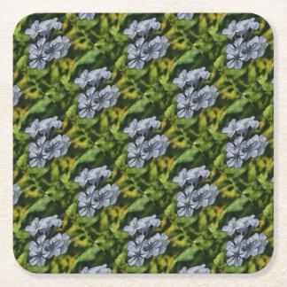 Delicate Plumbago Square Paper Coaster