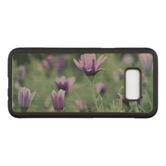 Delicate Purple Flowers Carved Samsung Galaxy S8+ Case