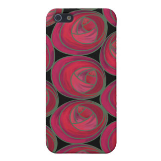 Delicate Red, Pink and Green Art Nouveau Roses iPhone 5 Cover