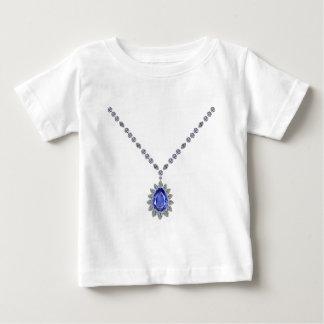 Delicate Sapphire Pendant Necklace Baby T-Shirt