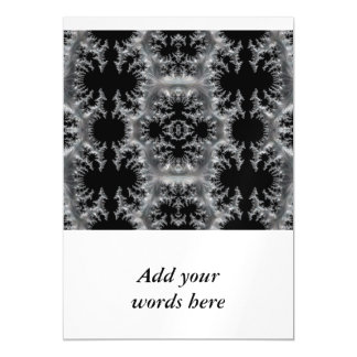 Delicate Silver Filigree on Black Fractal Abstract Magnetic Card