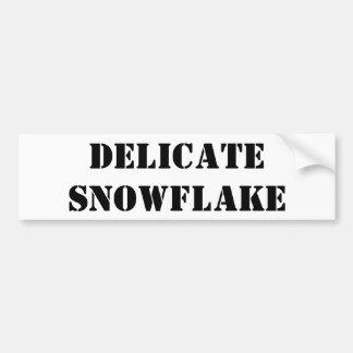 Delicate snowflake bumper sticker