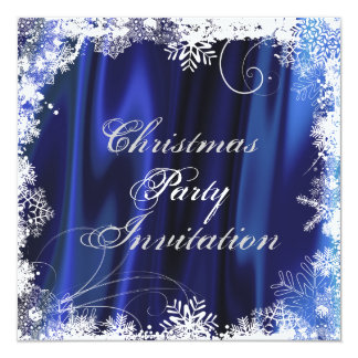 Delicate Snowflake Christmas Party Invitation