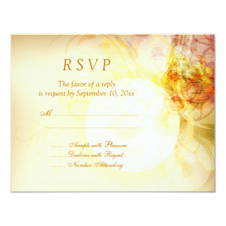 Delicate spring colors swirl wedding RSVP card