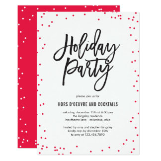 Delicate Sprinkles Holiday Party Invitation