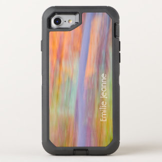 Delicate stripes of color OtterBox defender iPhone 8/7 case