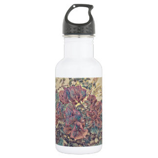 Delicate Stylised Bougainvillea 532 Ml Water Bottle