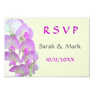 Delicate Sweet pea RSVP Wedding Cards