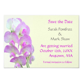 Delicate Sweet Pea Save The Date Card