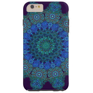 delicate turquoise mandala tough iPhone 6 plus case