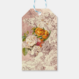 Delicate Vintage Roses Art Pack Of Gift Tags