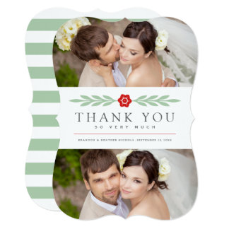 Delicate | Wedding Thank You Photo Card