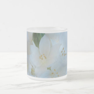 Delicate White Flowers Frosted Mug