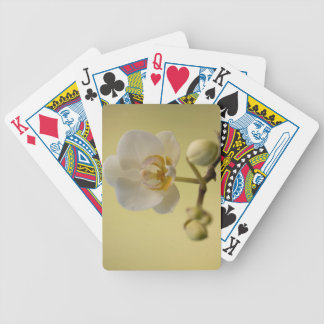 Delicate White Orchid Bicycle Playing Cards