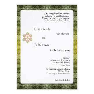 Delicate Winter Snowflakes Wedding Invitation
