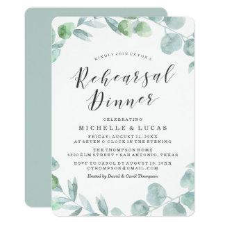 Delicate Wreath | Rehearsal Dinner Invitation