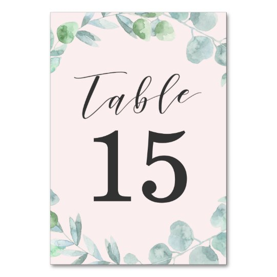 Delicate Wreath   Wedding Table Number Cards