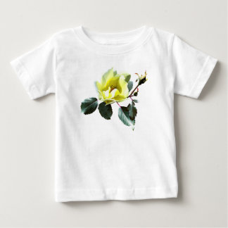 Delicate Yellow Rose Baby T-Shirt