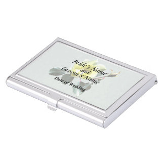 Delicate Yellow Rose Business Card Holders