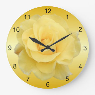 Delicate Yellow Rose Wall Clock