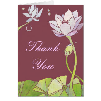 Delicate Zen Lotus Business Thank You Card
