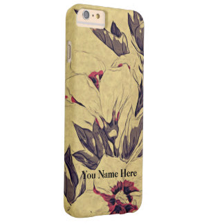 Delicated flower barely there iPhone 6 plus case