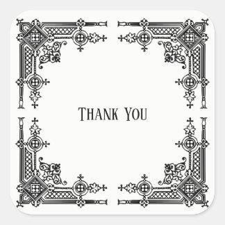 Delicately Detailed Victorian Design Square Sticker