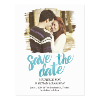 Delicately Revealed Save The Date Postcard