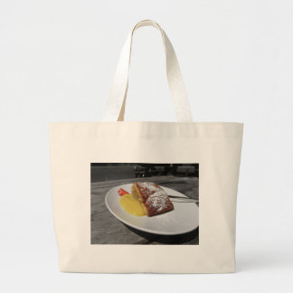 Delicious apple Strudel with vanilla cream Large Tote Bag