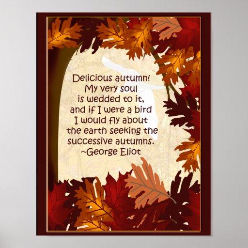 Delicious Autumn Poster