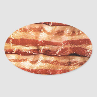 Delicious BACON goodness Oval Sticker
