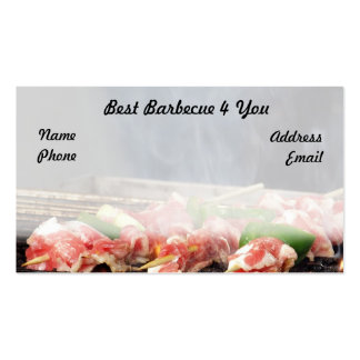 Delicious Barbecued Meat Skewers Business Card