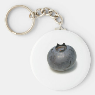 Delicious Blueberry Basic Round Button Keychain