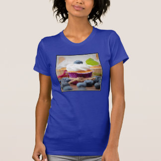 Delicious Blueberry Cupcake with Whipped Cream Tee Shirts