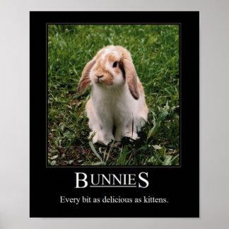 Delicious Bunnies! Poster