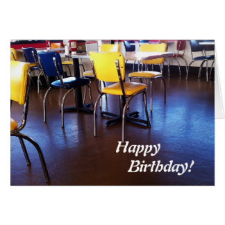 Delicious Chairs Birthday Card