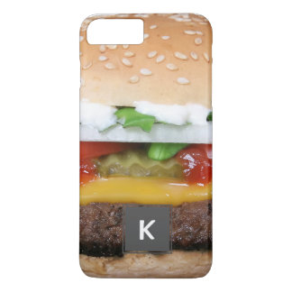 delicious cheeseburger with pickles photograph iPhone 8 plus/7 plus case