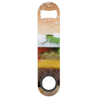 delicious cheeseburger with pickles photograph speed bottle opener