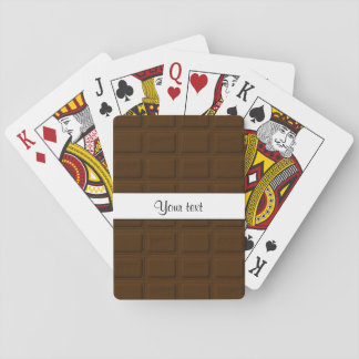 Delicious Chocolate Squares Poker Deck