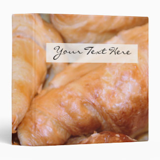 Delicious classic french croissants photograph 3 ring binders