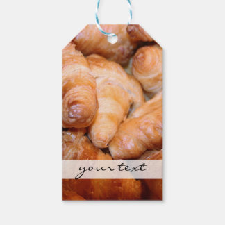 Delicious classic french croissants photograph gift tags