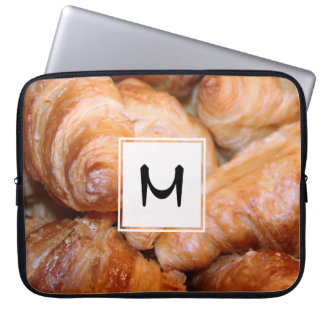Delicious classic french croissants photograph laptop sleeve