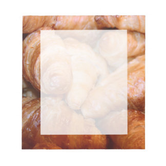 Delicious classic french croissants photograph notepad